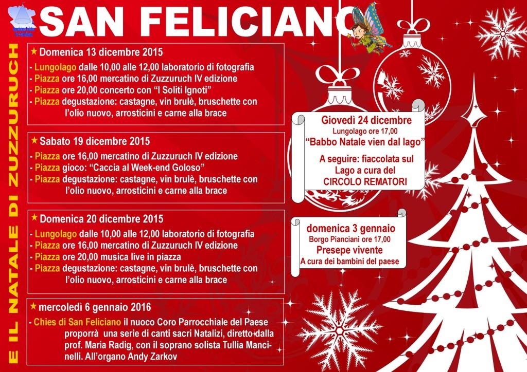 Volantino natale 2015 eventi principali